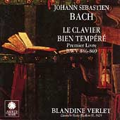Bach: Le Clavier Bien Temp&#233;r&#233;, Premier Livre / Verlet