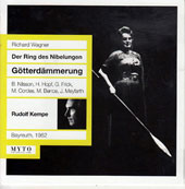 Wagner: Gotterdammerung / Hans Hopf, Marcel Cordes, Otakar Kraus, Gottlob Frick, Birgit Nilsson, Grace Hoffman, Gundula Janowitz, Sieglinde Wagner (Bayreuth, 1962)