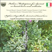 Italian Masterpieces for Clarinet or Basset Horn and Orchestra / Stephan Siegenthaler