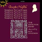 Haydn: Symphonies no 1-5 / Roy Goodman, Hanover Band