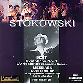 Bizet: Symphony no 1, etc;  Messiaen / Stokowski