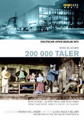 Boris Blacher: 200,000 Taler (1970 World Prem.) / Moedl; Reich; Weiss; Deutsche Oper Berlin Orch.; Hollreiser [DVD]