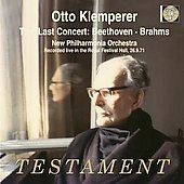 Otto Klemperer conducts the Last Concert - Beethoven, Brahms / Adni, New Philharmonia Orchestra