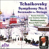 Tchaikovsky: Symphony No. 4; Serenade for Strings / Rozhdestvensky