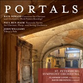 Portals: Modern works by Sowash, Ben-Ham & Williams for clarinet & orchestra / David Drosinos, clarinet