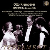 Mozart: The Magic Flute / Sutherland, Lewis, Evans, Hotter; Royal Opera Chorus & Orchestra, Klemperer