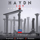 Haydn: 107 Symphonies - The first complete cycle on period instruments / Christopher Hogwood; Ottavio Dantone; Frans Brüggen [35 CDs]