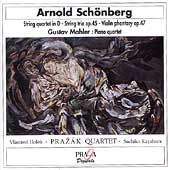 Schönberg: String Quartet, String Trio, etc / Prazak Quartet