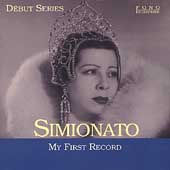 D&eacute;but Series - Simionato - My First Record