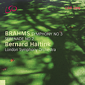 Brahms: Symphony no 3, etc / Bernard Haitink, London SO