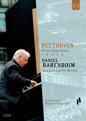 Beethoven: The Piano Concertos / Barenboim, Staatskapelle Berlin [2 DVD]