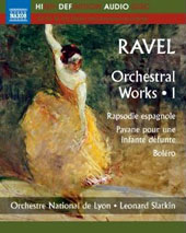 Ravel: Orchestral Music, Vol. 1 - Alborada del gracioso; Pavane; Rapsodie espagnole, Bolero et al. / Jennifer Gilbert, violin [Blu-Ray Audio]