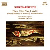 Shostakovich: Piano Trios no 1 & 2, etc /Stockholm Arts Trio