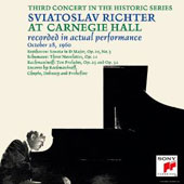 Sviatoslav Richter at Carnegie Hall: Third Concert in the Series - October 28, 1960