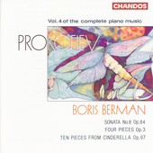 Prokofiev: Complete Piano Music Vol 4 / Boris Berman