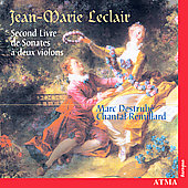 Leclair: Second livre de Sonates / Destrubé, Rémillard