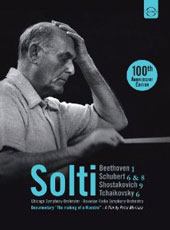 Sir Georg Solti - 100th Anniversary Edition: Beethoven: Sym. No 1; Schubert: Syms. Nos. 6 & 8; Shostakovich: Sym. 9; Tchaikovksy: Sym. 6 / Chicago SO; Bavarian Radio SO [3 DVD]
