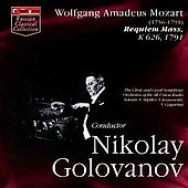 Mozart: Requiem / Golovanov, Shpiller, Gagarina, et al