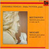 Beethoven, Mozart: Quintets for Winds & Piano / Puntos, Ensemble Fidelio