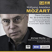 Mozart: Piano Concerto no 20, Cadenzas by Beethoven, Brahms, Busoni, etc / Rische, Griffiths, et al