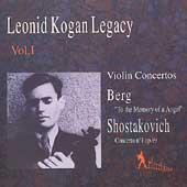 Leonid Kogan Vol 1 - Brahms: Violin Concerto;  Mozart: Violin Concerto no 3