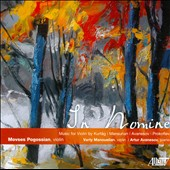 In Nomine / Music for violin & piano by Kurtag; Avanesov; Prokofiev; Mansunan / Movses Pogossian, violin; Artur Avanesov, piano