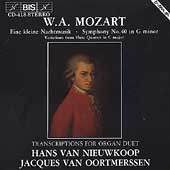 Mozart: Symphony no 40, etc Transcr for Organ / van Niewkoop