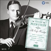 Icon: The Early Years: Concertos by Mozart, Bach, Elgar, Mendelssohn, Paganini et al. / Yehudi Menuhin, violin [12 CDs]