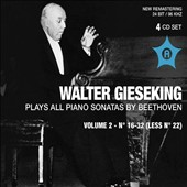 Beethoven: Complete Piano Sonatas Vol. 2 - Nos. 16-32 (Less No. 22) / Walter Gieseking, piano
