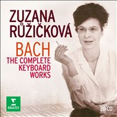 J.S. Bach: The Complete Keyboard Works / Zuzana Ruzicková, harpsichord; Josef Suk, violin; Pierre Fournier, cello; Jean-Pierre Rampal, flute; Eduard Fischer, Prague Soloists [20 CDs]