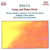 Classical Palette - Falla: Songs and Piano Music / Quaife