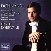 Dohnányi: Variations on a Hungarian Folk Song, etc /Korevaar