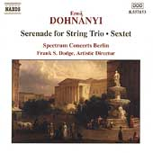 Dohnányi: Serenade for String Trio, et al /Spectrum Concerts