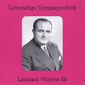Lebendige Vergangenheit - Leonard Warren Vol 3