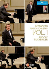 The Complete Beethoven Sonatas, Vol. 1: Sonatas Nos 1, 4, 5, 10, 12, 13, 'Sonata quasi una fantasia', 14, 'Moonlight' 17 'The Tempest', 18, 22 / Rudolf Buchbinder, piano [2 DVD]