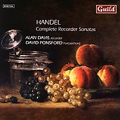 Handel: Recorder Sonatas / Alan Davis, David Ponsford
