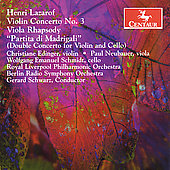 Lazarof: Violin Concerto no 3, etc / Schwarz, Edinger, et al