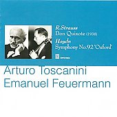 Haydn: Symphony no 92;  R. Strauss: Don Quixote / Toscanini, Feuermann, NBC SO