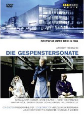Aribert Reimann: Die Gespenstersonate / Han Gunter Nocker, Martha Modl, Horst Hiestermann. Ensemble Modern, Friedemann Layer [DVD]