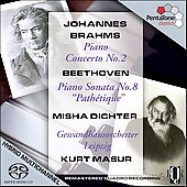 Brahms: Piano Concerto no 2;  Beethoven / Dichter, et al