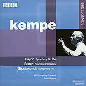 Shostakovich, Haydn, Britten / Kempe, BBC SO