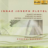 Pleyel: Quartet in B flat major, Symphony in A major, etc