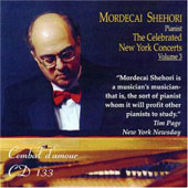 The Celebrated New York Concerts Vol 3 - Bach, Beethoven, Liszt, etc / Mordecai Shehori