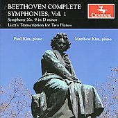 Beethoven/Liszt: Complete Symphonies Vol 1 - Symphony no 9 {Transcription for 2 Pianos} / Paul Kim, Matthew Kim