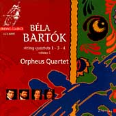 Bartók: String Quartets Vol 1 - 1, 3, 4 / Orpheus Quartet