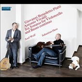 Giovanni Benedetto Platti, Antonio Vivaldi: Six Sonatas for Violoncello and Basso continuo / Sebastian Hess, cello; Axel Wolf, lute
