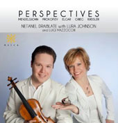 Perspectives - Music for violin & piano by Mendelssohn, Prokofiev, Elgar, Grieg, Kreisler / Netanel Draiblate, Lura Johnson