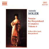 Soler: Sonatas for Harpsichord Vol 4 / Gilbert Rowland