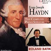 Haydn: Complete Piano Sonatas Vol 3 / Roland Batik