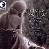 Lie Down, Poor Heart - English Lutesongs & Ballads / Taylor